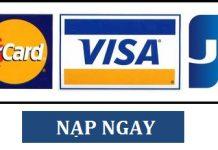 nạp tiền vào tài khoản vtc365 qua thẻ quốc tế