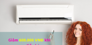 Mua điều hòa giảm 600.000đ với thẻ VTC Mastercard