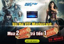 Làm thẻ Mastercard của VTC để được hưởng khuyến mại mua 02 trả tiền 01