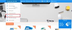 truy cập website VTC Pay để chọn tiện ích