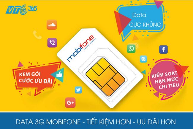 Mua mã thẻ data 3G Mobifone tại VTC Pay - chiết khấu 9%
