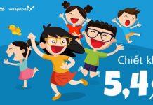 Mua thẻ điện thoại Vinaphone tại VTC Pay chiết khấu 5,4%
