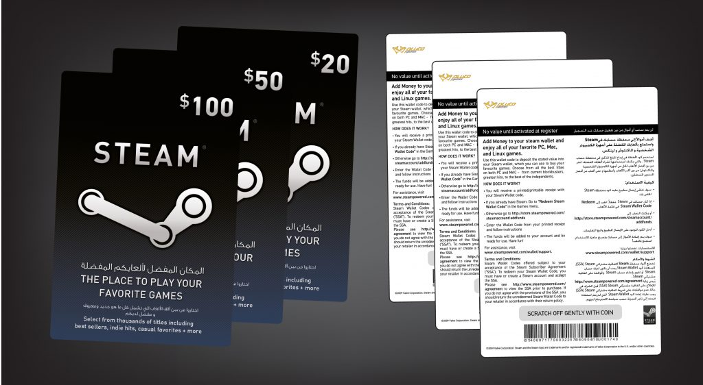 Steam wallet card