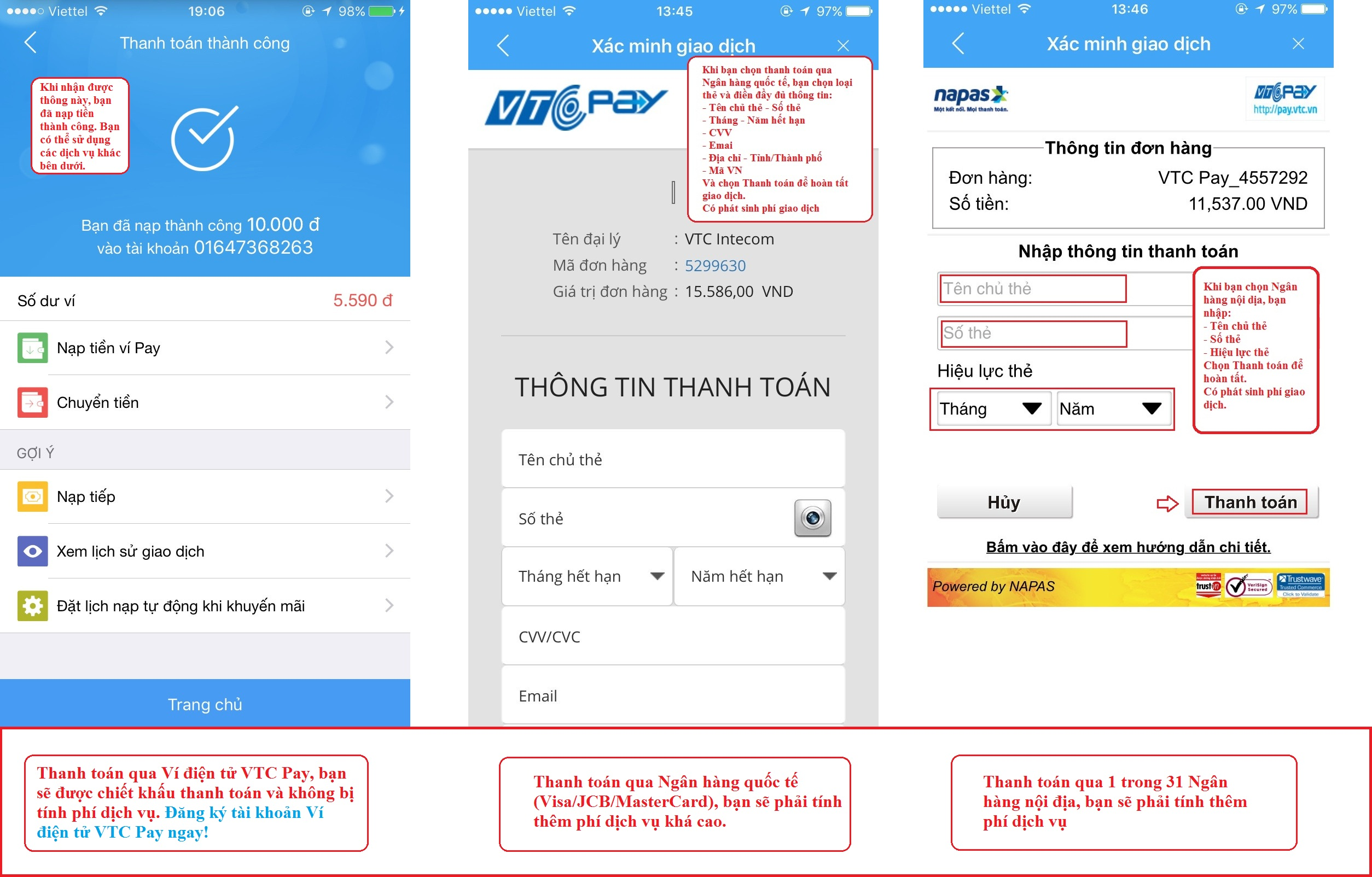 Thanh toán cước trả sau Vinaphone cực dễ với VTC Pay
