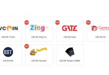 Mã thẻ game được bán trên VTC Pay rất đa dạng và rẻ
