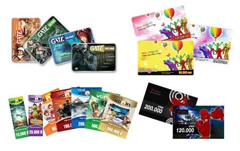 Mua mã thẻ game trên VTC Pay