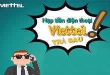 Hướng dẫn nạp tiền điện thoại Viettel trả sau