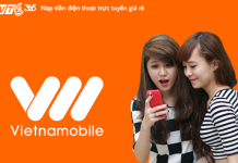 Nạp tiền điện thoại Vietnamobile giá rẻ nhất thị trường tại VTC Pay