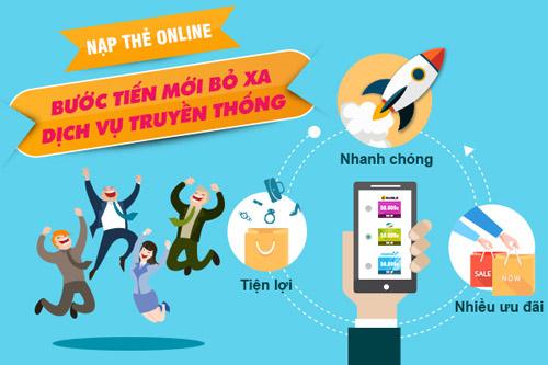 Nạp tiền điện thoại online tại VTC365