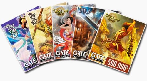 Thẻ Gate có những mệnh giá nào và dùng cho các game nào của FPT?