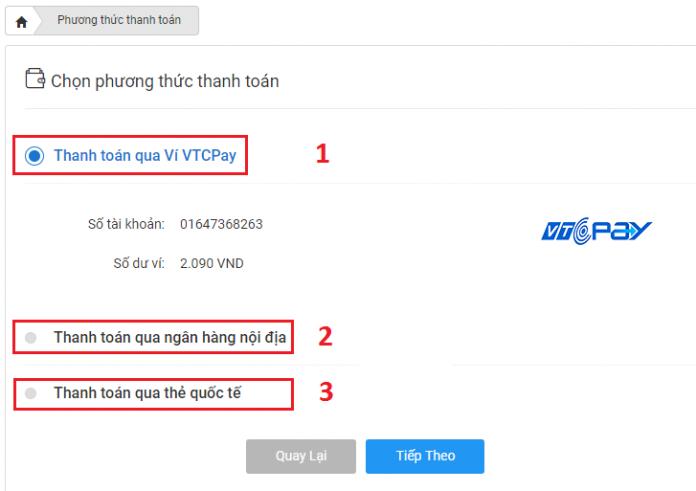 phuong thuc thanh toan vtc365