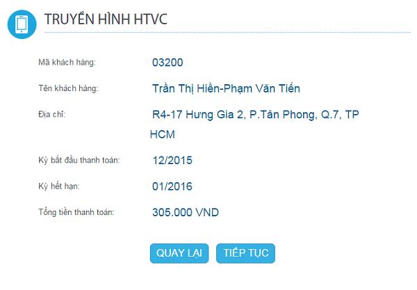 thanh toán cước truyền hình HTVC