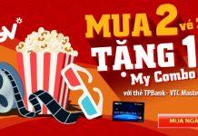 Mua 2 tặng 1 My Combo CGV với thẻ TPBank - VTC Mastercard