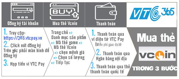 Mua thẻ Vcoin trong 3 bước