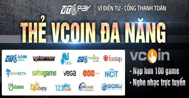 Mua thẻ Vcoin để nạp game gì