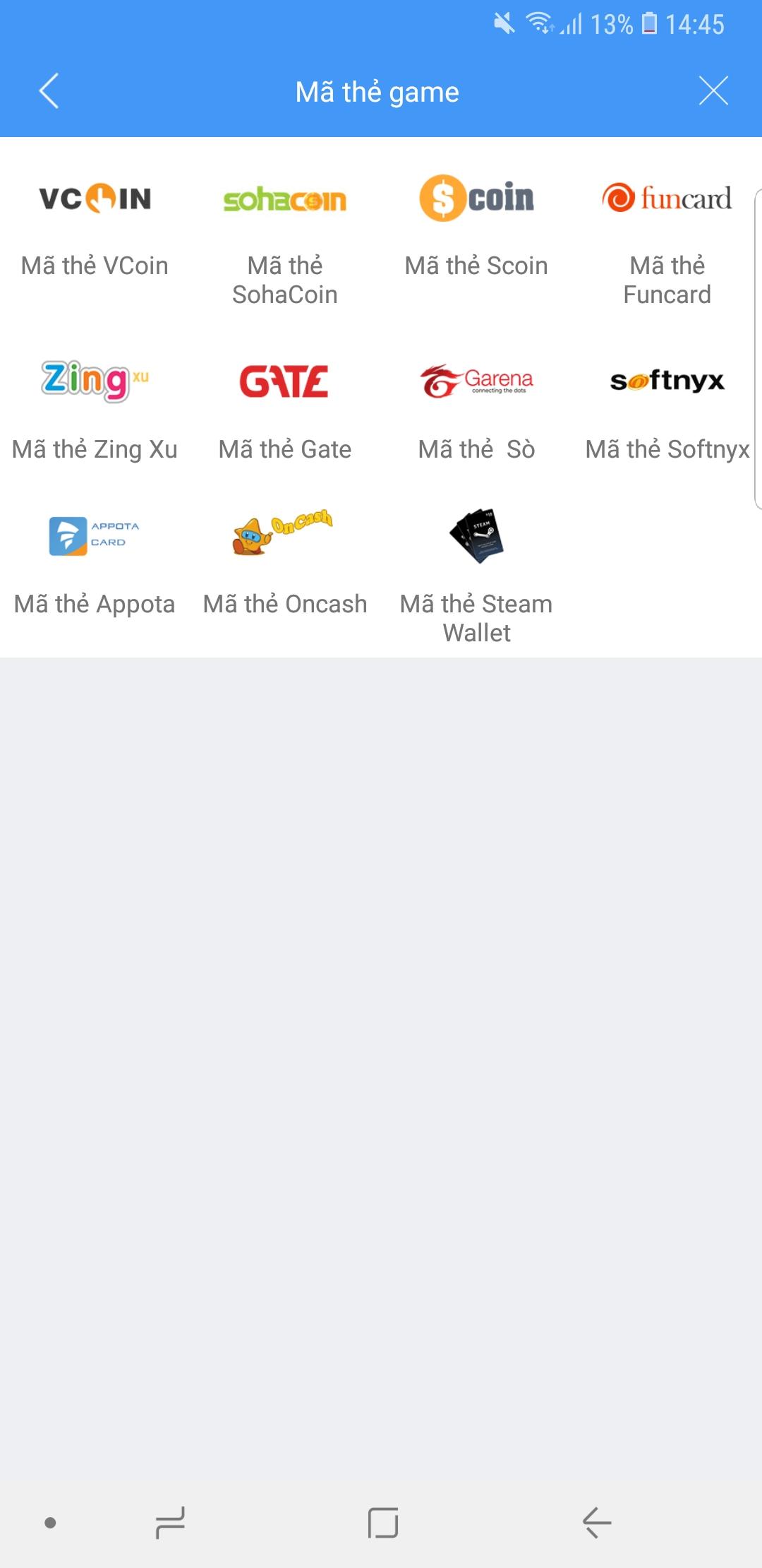 Mua thẻ Sohacoin với ví điện tử VTC Pay