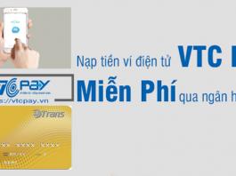 Hướng dẫn nạp tiền ví điện tử VTC Pay miễn phí qua ngân hàng BIDV