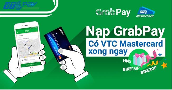 nap grabpay qua vtc pay mastercard