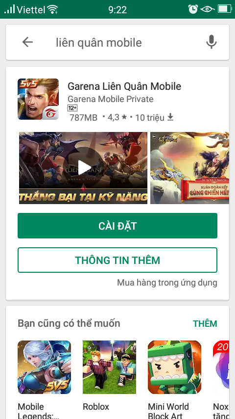 tai lien quan mobile cho android
