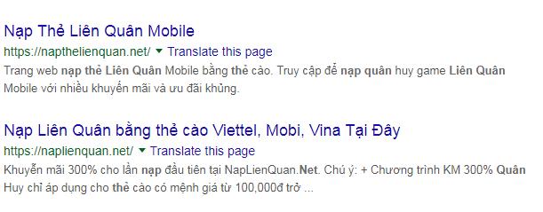 nhan biet trang nap the lien quan gia mao