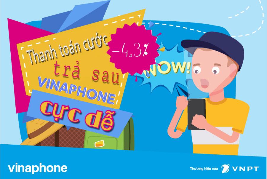 Nạp tiền điện thoại chiết khấu cao cho thuê bao trả sau Vinaphone