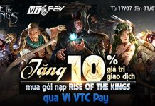 Nạp Rise of the Kings qua VTC Pay