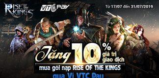 Nạp Rise of the Kings qua VTC Pay