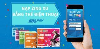 nap zing xu bang the dien thoai duoc khong