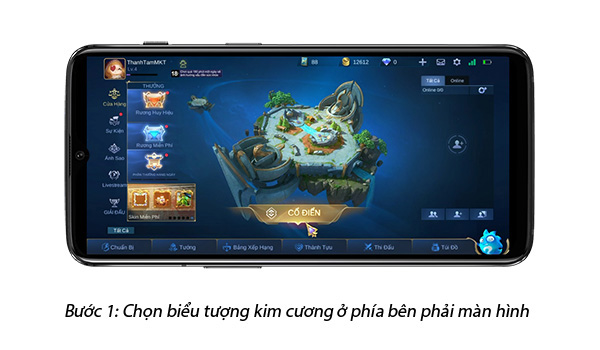 giao diện game mobile legends