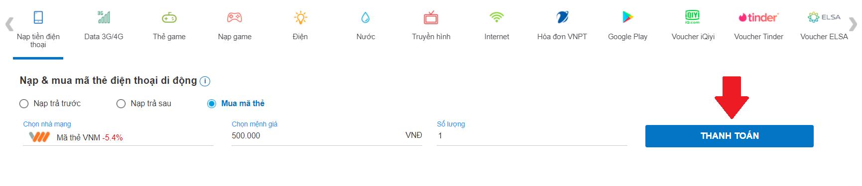mua thẻ điện thoại vietnamobile ở đâu