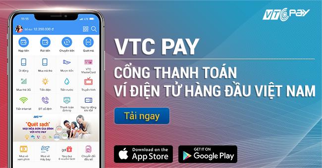 Nạp thẻ điện thoại online VTC Pay